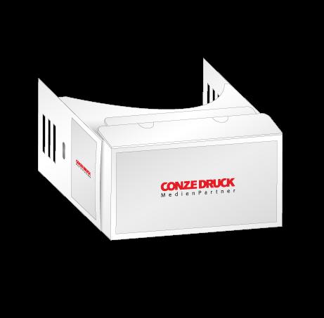 VR Cardboard | mit Aufkleber (Virtual Reality VR-Smartphonebrille)